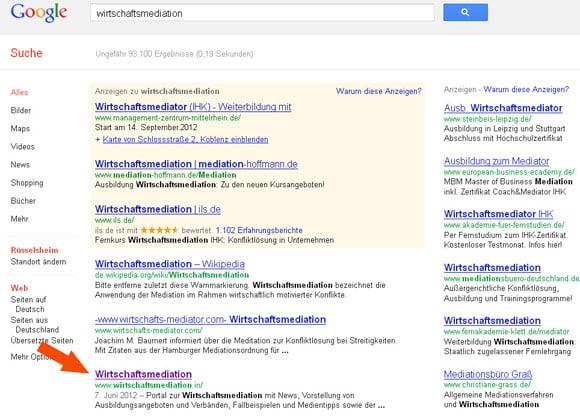 Google Wirtschaftsmediation