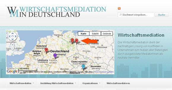 Wirtschaftsmediatoren Deutschlandkarte